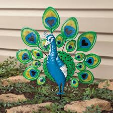 peacock lawn stake yard yard ornaments kimball lighted