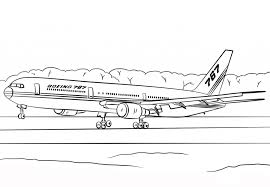 boeing 767 airplane coloring transportation printable