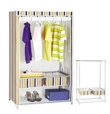 portable closet storage organizer clothes rack with shelves