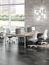 plan de travail pour bureau bureau bench design avec plan de travail mélaminé pour 4 personnes