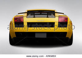 lamborghini gallardo rear lamborghini gallardo in yellow rear end stock photo royalty free