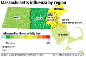 Map Of Central Massachusetts by Flu Season Has Peaked Doctors Urge Vigilance News Telegram