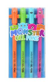 international arrivals monster gel pens 4 pack at guiry s color source