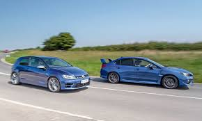 old subaru hatchback vw golf r vs subaru impreza wrx sti twin test review 2015 by car