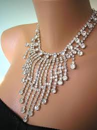 rhinestone statement necklace images Statement necklace great gatsby jewelry rhinestone runway collar jpg