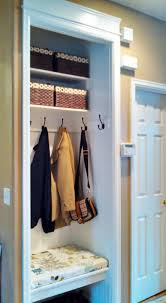 how to turn a small closet into a mudroom google search home
