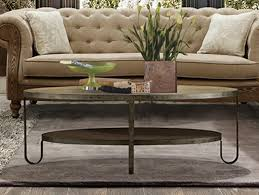 Living Room Ideas Industrial Furniture Industrial Oval Coffee Table With Tufted Beige Sofa And