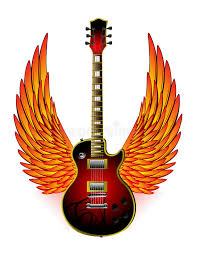 guitar wings stock vector illustration of 9091251