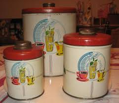 funky kitchen canister set 3 pc vintage vintage kitchen