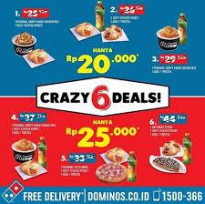 domino pizza tangerang selatan crazy 6 deals at domino pizza gotomalls