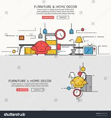 home decor line furniture home decor website banner landing stock vector 383695195