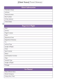 travel itinerary template vnzgames