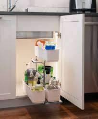 the cleaning agent under sink organizer by kessebohmer clever