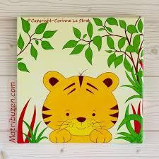tableaux chambre bébé tableau enfant chambre bébé savane jungle aristide le tigre
