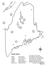 maine map worksheet coloring page free printable coloring pages