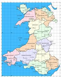 Map Of Ireland And England by Map Of Wales Showing The Old Counties Before The Modern