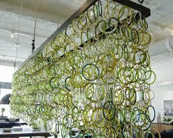 recycled chandeliers leed lighting from recycled coke bottles u2013 kitchen studio of