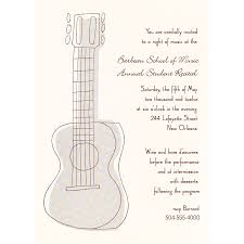 cocktail party invitation handsome white background colors and guitar cocktail party