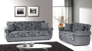 Grey Sofa And Loveseat Sets Jasmine Sofa Bed U0026 Loveseat Set In Grey Chenille By Rain