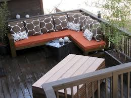 Outdoor Deck Furniture by Asking My Husband To Build A Sectional For Our Back Deck To