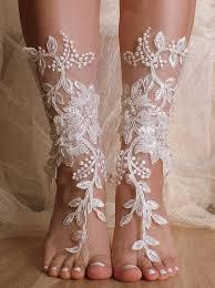 barefoot sandals wedding unique lace sandals ivory wedding barefoot sandals