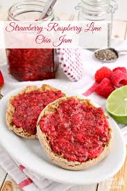 frugal foodie mama strawberry raspberry lime chia jam