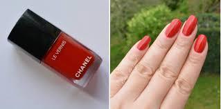 chanel le vernis long wear nail colour 500 rouge essentiel review