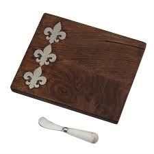 mud pie cutting boards mud pie fleur de lis bar board mud pie