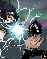 vs sasuke hiei vs sasuke by nueti on deviantart