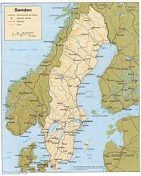 map of sweden sweden maps perry castañeda map collection ut library