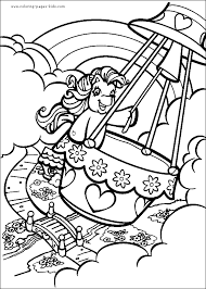 pony color coloring pages kids cartoon