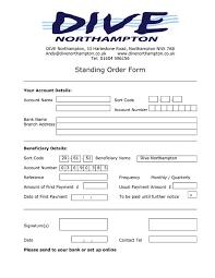 standing order form template 28 images sle blank order form 9