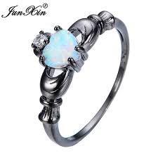 aliexpress buy junxin new arrival black aliexpress buy junxin new brand claddagh white opal