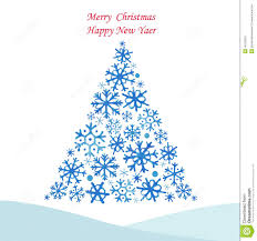tree from snowflakes stock vector image 45763391