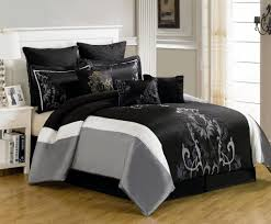 glamorous grey comforter design for cozy bedroom decoration wall