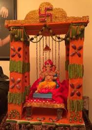 Diwali Decorations In Home Shri Ganesh Ganesh Chaturthi Decoration Ideas Ganesha