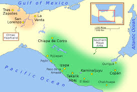 mayan empire map southern area