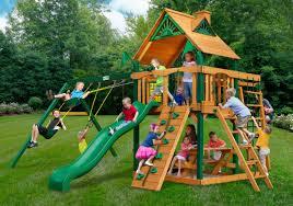 Home Depot Playset Installation Outdoors Gorilla Playset Cedar Playset Childrens Swingsets