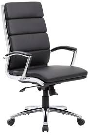 Leather Office Chair Modern Leather Office Chair Chrome Base