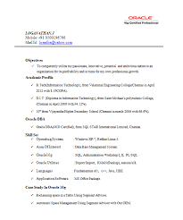Sample Resume For 2 Years Experience In Mainframe by Image Result For Oracle Dba Resume Examples Oracle Certified