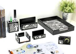 Wood Desk Accessories And Organizers Office Modern Desk Organizer For Office Table Or Workspace Zebra