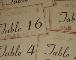 themed table numbers travel table numbers etsy