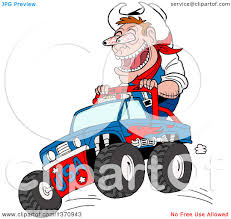 mud truck clip art clipart of a cartoon caucasian male cowboy ridig on a monster