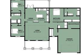 floor plan house design plans for 3 bedroom bungalow house plan beautiful of a 4 bedrooms