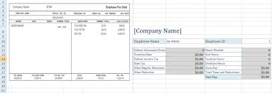 Excel Paystub Template Free Employee Pay Stub Excel Template Microsoft Excel Templates