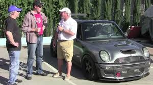 mini cooper modified modified mini cooper on carcast with adam carolla and sandy ganz