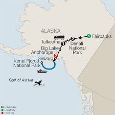 Gulf Of Alaska Map by Alaska National Park Tour Globus