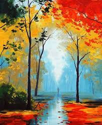 40 easy and simple landscape painting ideas