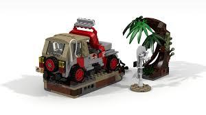 jurassic world jeep 29 lego ideas jurassic park jeep wrangler dennis u0027 demise