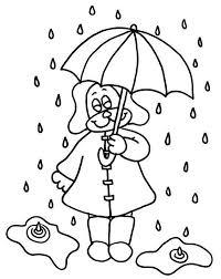 puppy raindrop umbrella coloring color luna